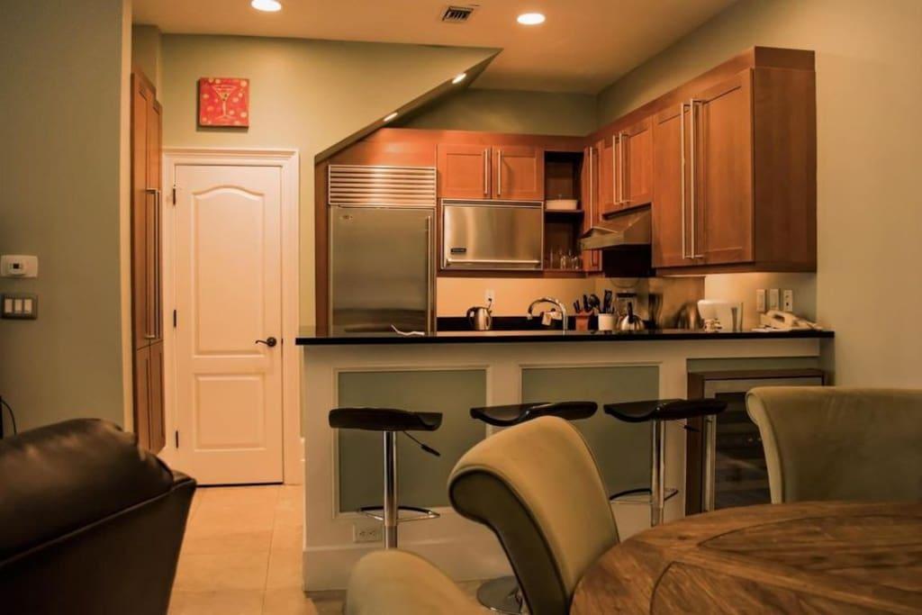 Kitchen with Subzero and Viking Appliances