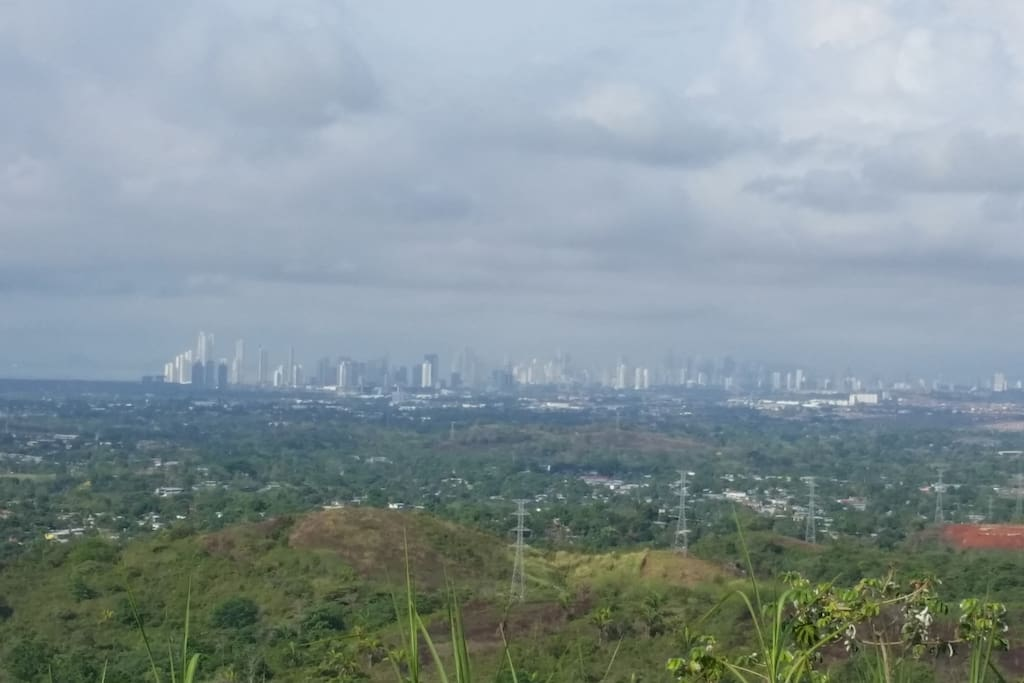 View of the city at 5kms from La Canelita