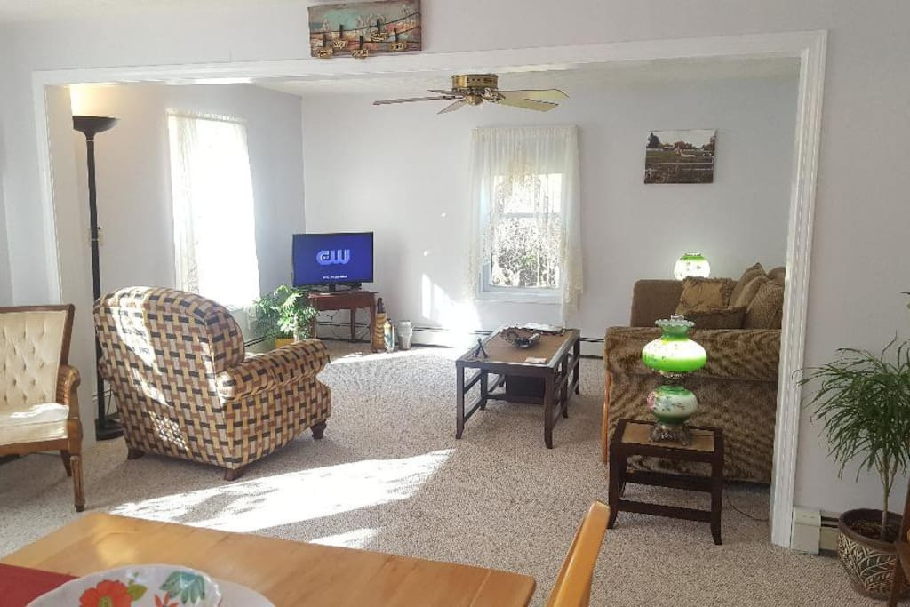 Living room includes 32 inch color TV with ESPN, HBO, Showtime, Starz, Cinemax, FX, Encore and many more stations plus internet.