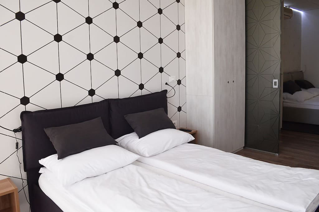 Comfortable double bed in second bedroom