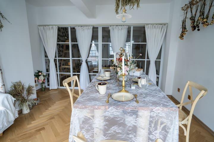 摄影师的家Room4《北岛的花园》Loft/法式/北欧ins/包河万达/地铁/投影/限2人不加客聚会