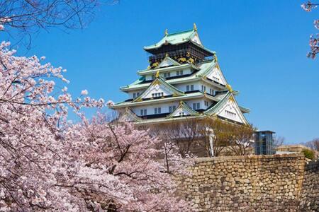 大阪城前屋民宿。201。歡迎多人數家庭旅遊、學生畢業旅行、少人數也歡迎 - 大阪市