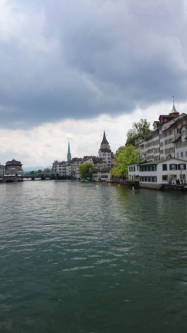 The Limmat river on the way to the apartment