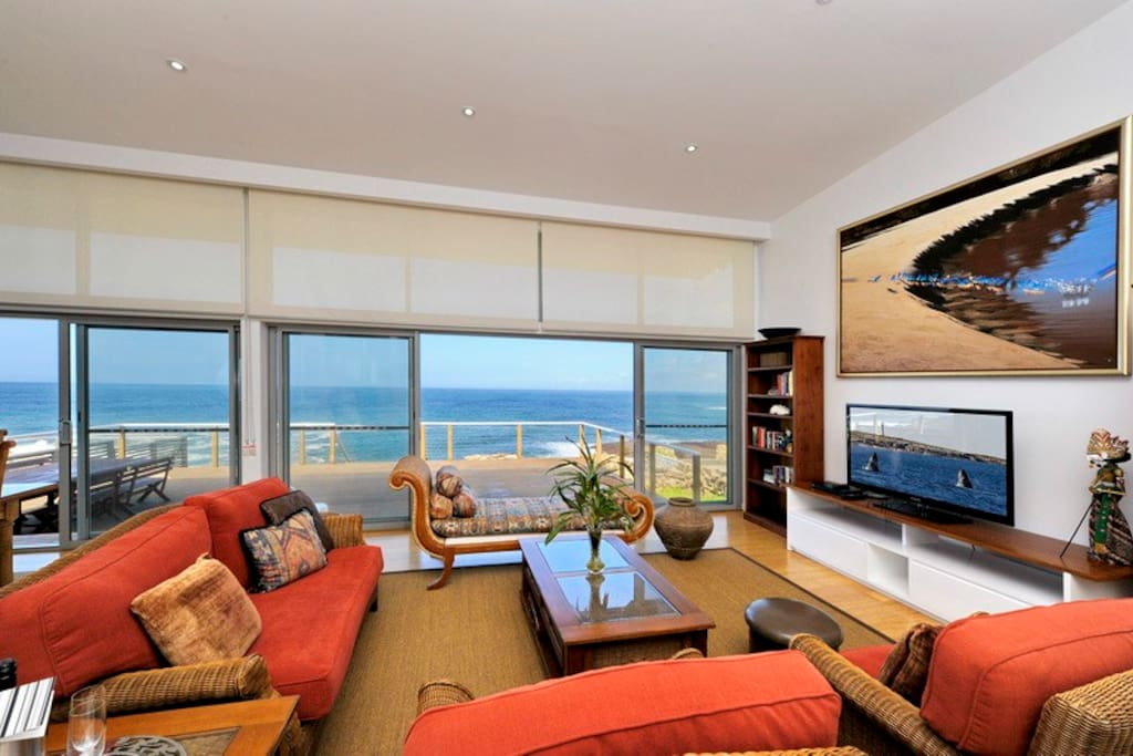 Living room with views
