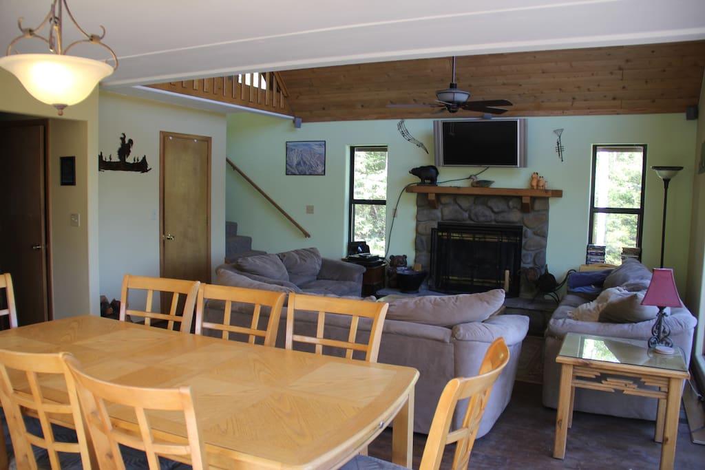 Large Living room open floor plan