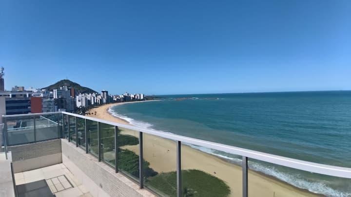 2 quartos Praia da Costa - Temporada com Vista Mar