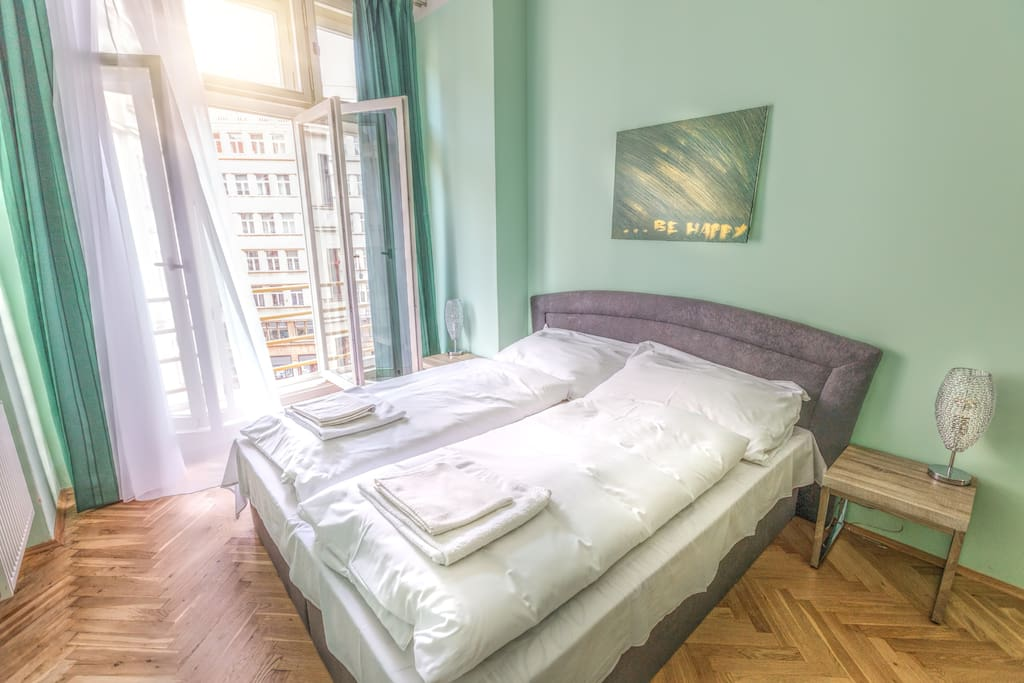 Bedroom №1: with king size bed for two person and 1 bed for one person.