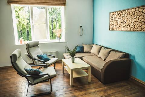 Beach house apartment with sauna