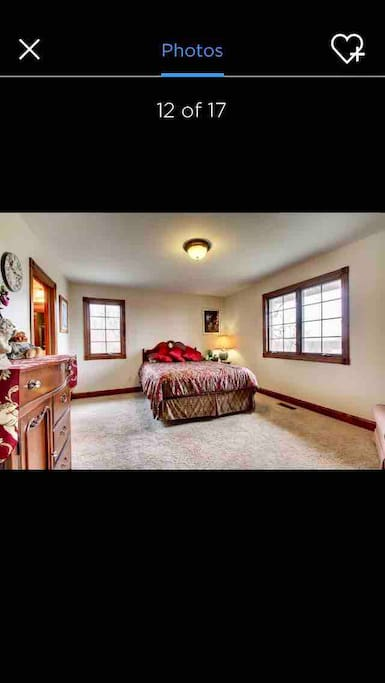 One of the Guest bedrooms, Stunning views of Mississippi River from window.