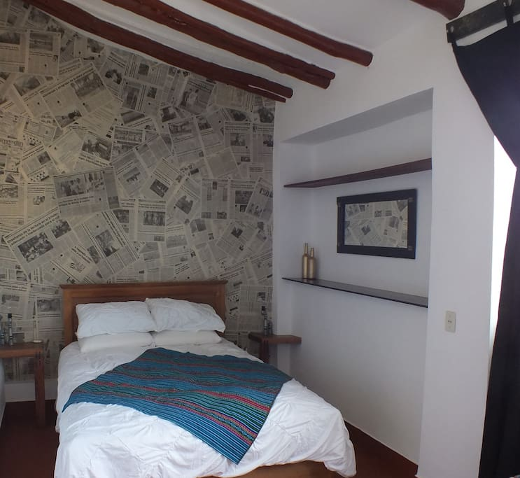 Double Room with  very comfortable mattress and pillows.