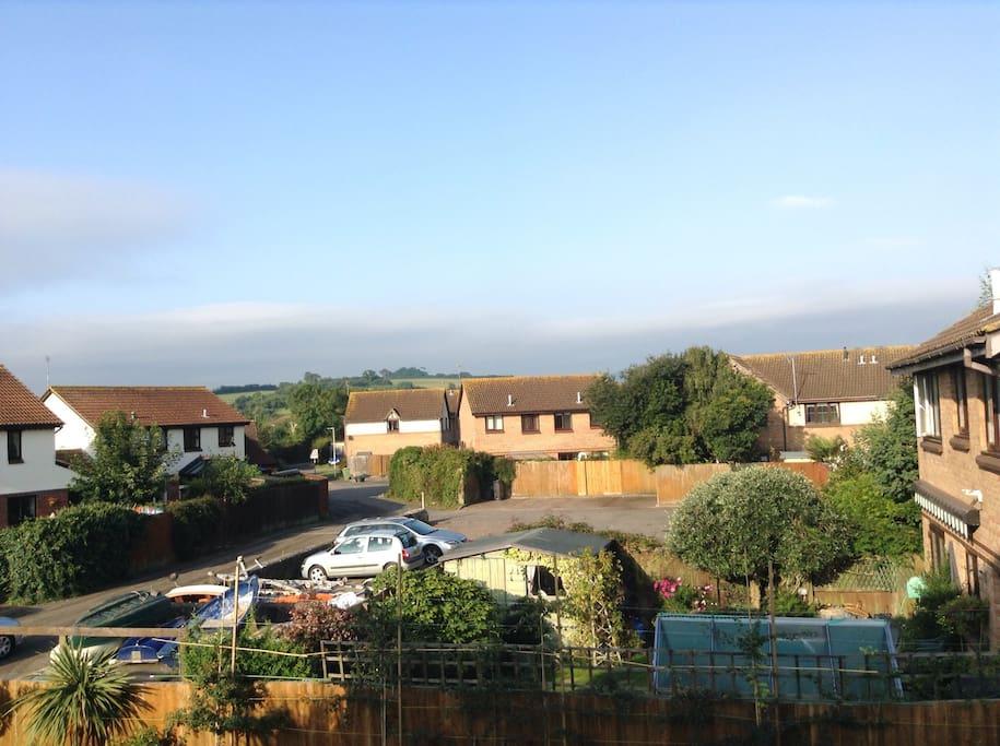 Views from bedroom window