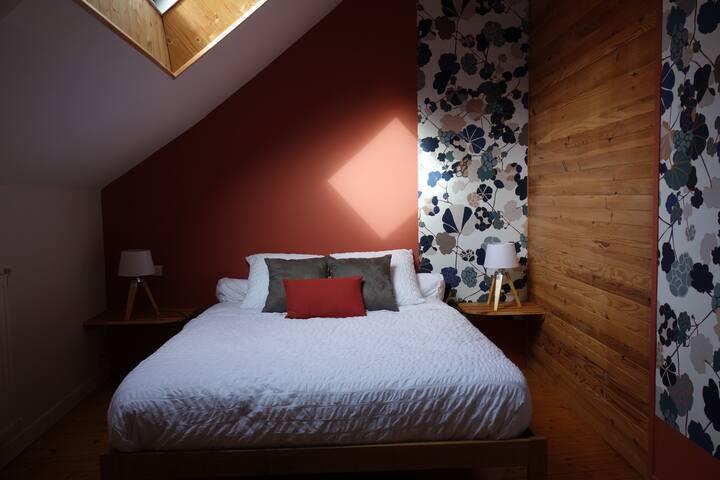 Chambre 1 - 1 lit 160 x 200 et 1 lit 90 x 200