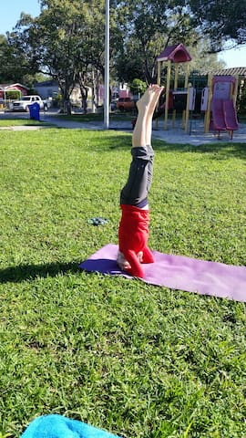 We also do yoga at our park