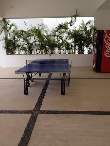 Area social mesa de pin pon