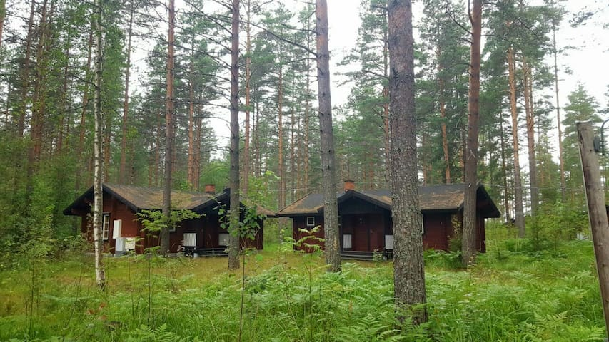2 wooden cottages in the woods by the lake - Kerimäa - House