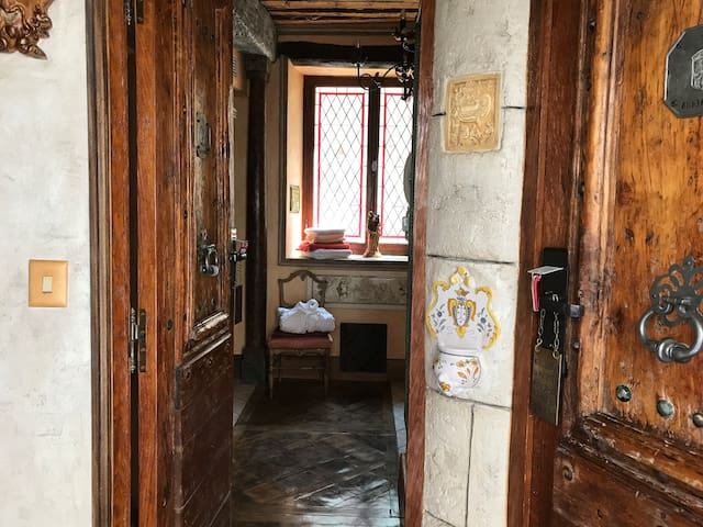 Charming room in medieval village