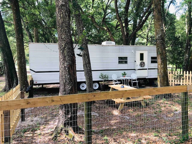 Gated Renovated Farmhouse Rv in Forest!