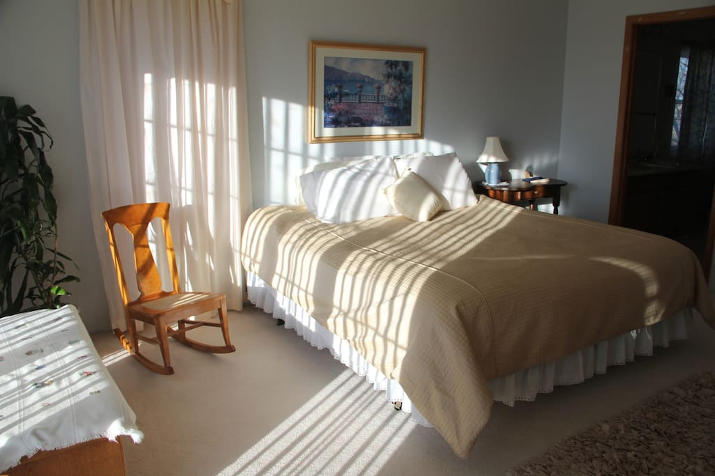 Relax in our cozy room on a sunny Colorado day!
