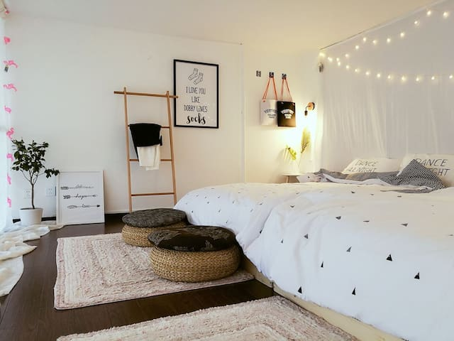 『艾·窝』room1#loft公寓(3-6人)老虎滩·付家庄·森林动物园·点击头像查看房东其他房源