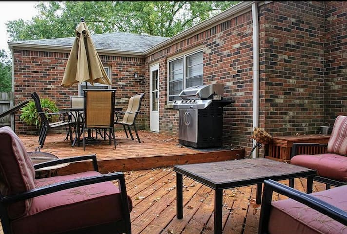 Deck- plenty of seating and firepit (not pictured)