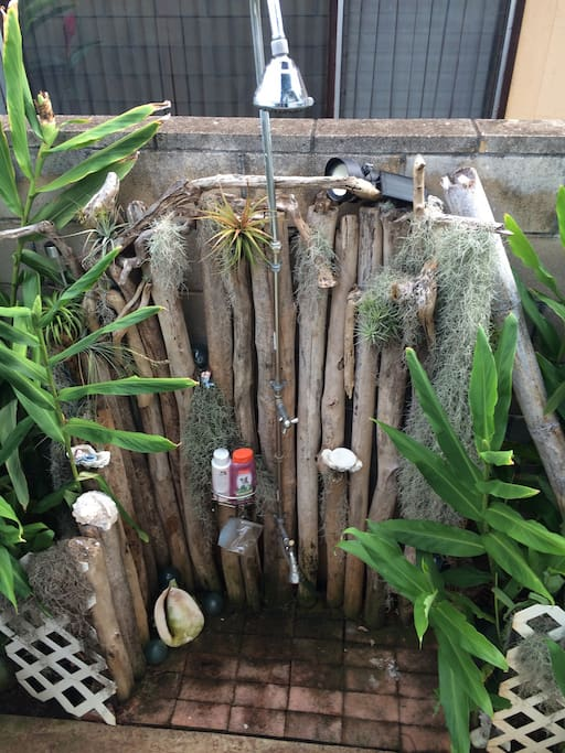 Your welcome to use our outside driftwood beach shower