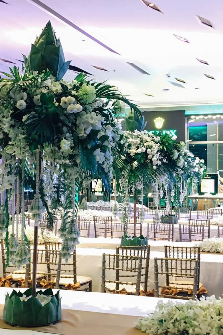 Sakul's recent work on banquet decor