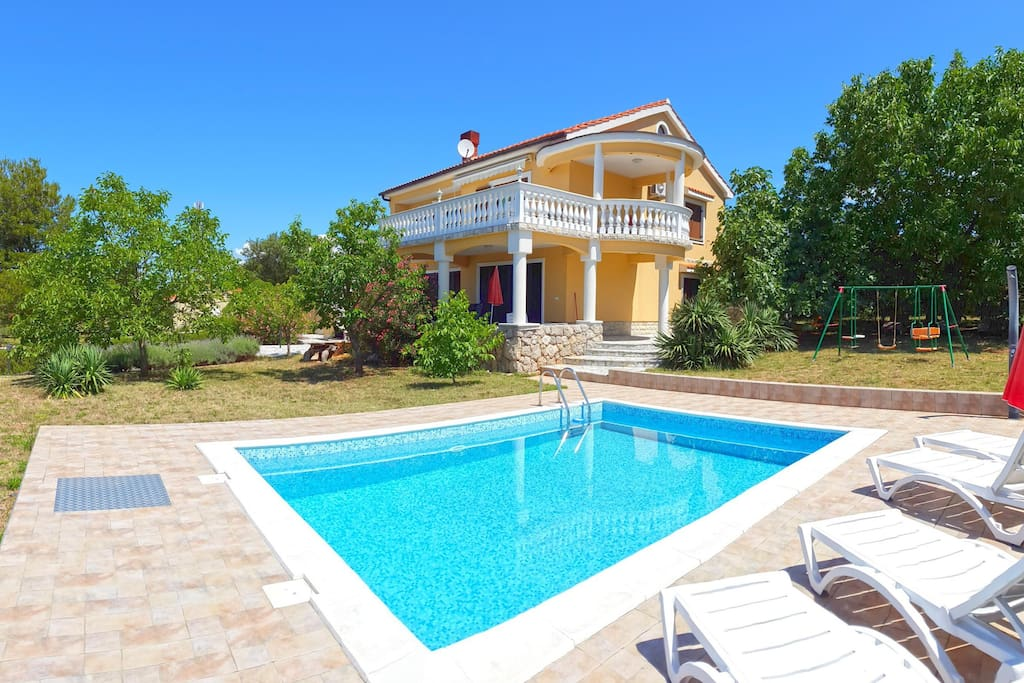 External view on property with pool
