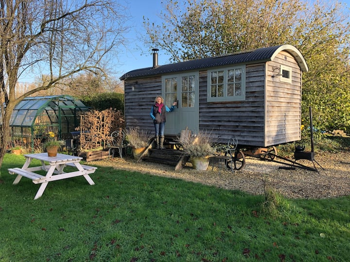 Deluxe Cosy Shepherd Hut in our Orchard