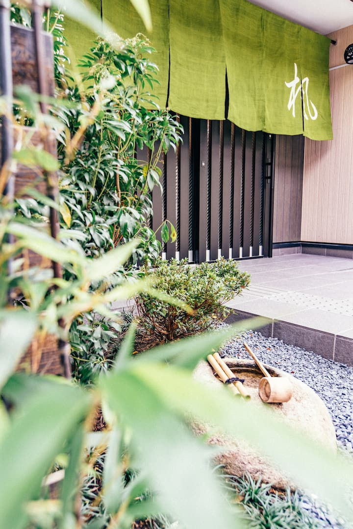 京都楓ホテル鴨川前303 出町柳駅歩く1分 バスルーム付き ベランダ付き畳部屋