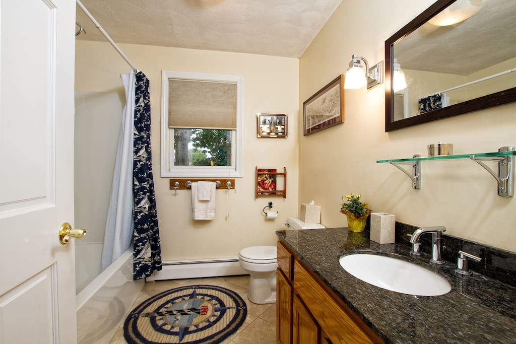 Upstairs full bath with tub