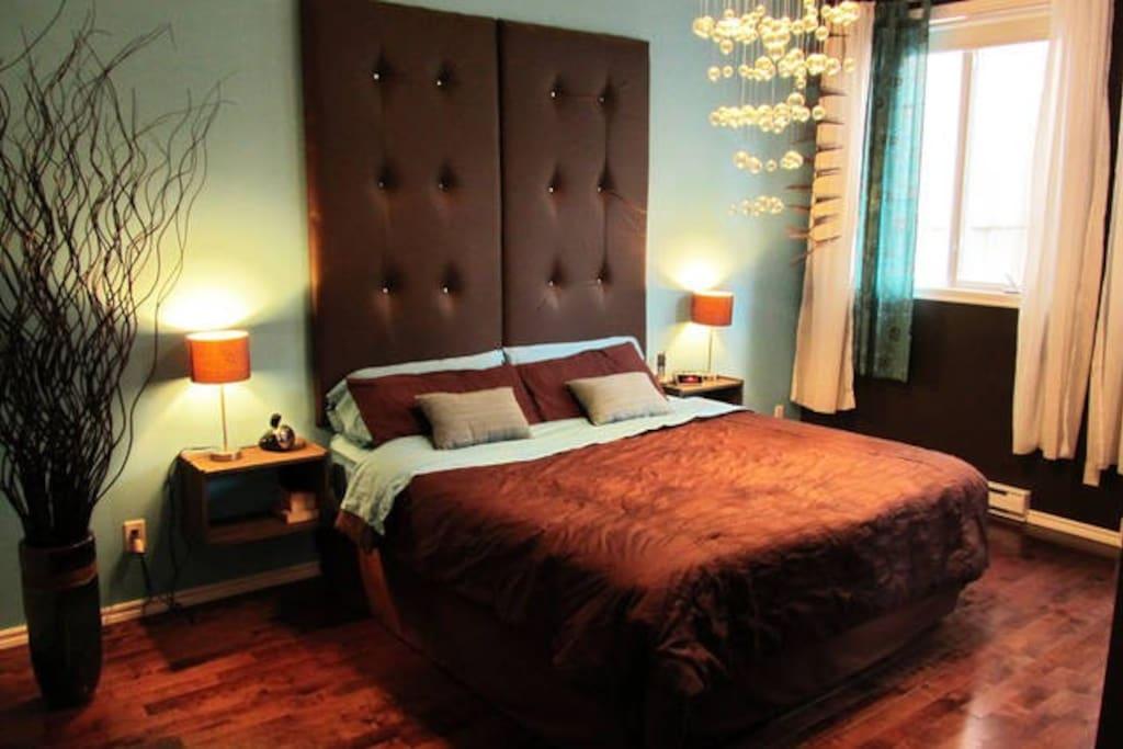 Chambres principale lit queen
