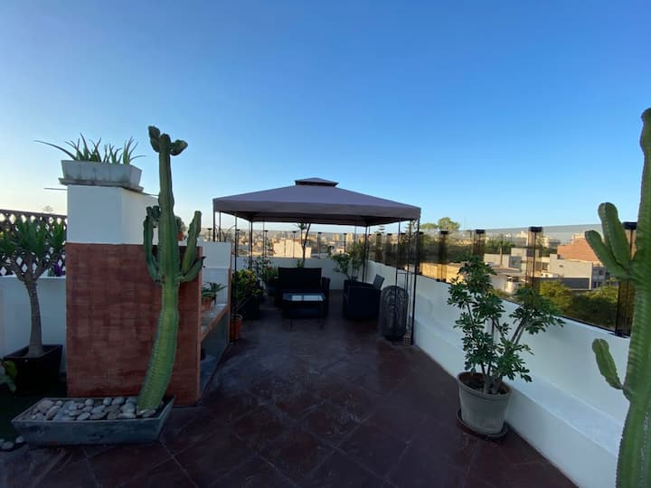 Club House Lounge Bar in Rooftop Garden & Chimney