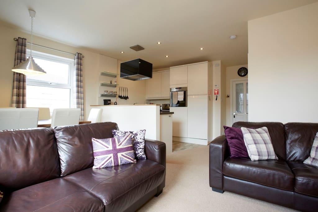 Living room - open plan for socialising.
