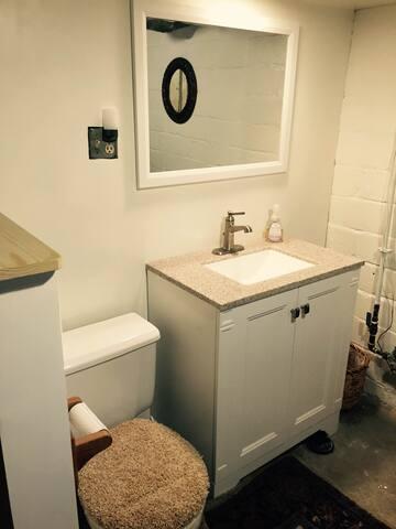 Updated bathroom!