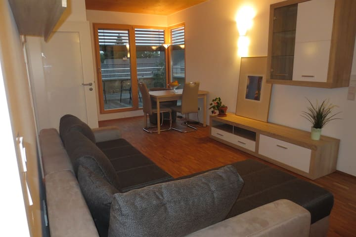 Bright apartment with rooftop terrace at the park - Erding - Apartment