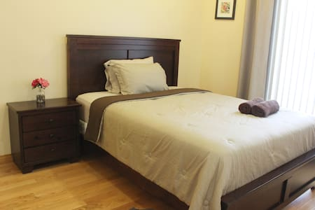 A comfortable private and clean second floor room.