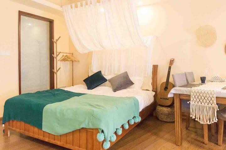 【不限行】巽寮湾 十里银滩 | 木子の家纯北欧风 海滨高级公寓 北欧吊椅 烤箱