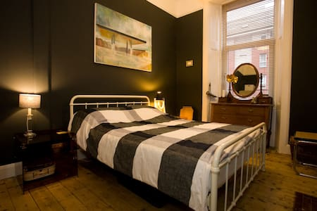 Stylish double room in Victorian tenement flat