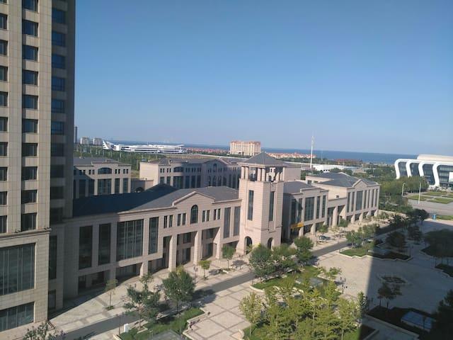 东疆湾海景温泉度假loft网红公寓民宿