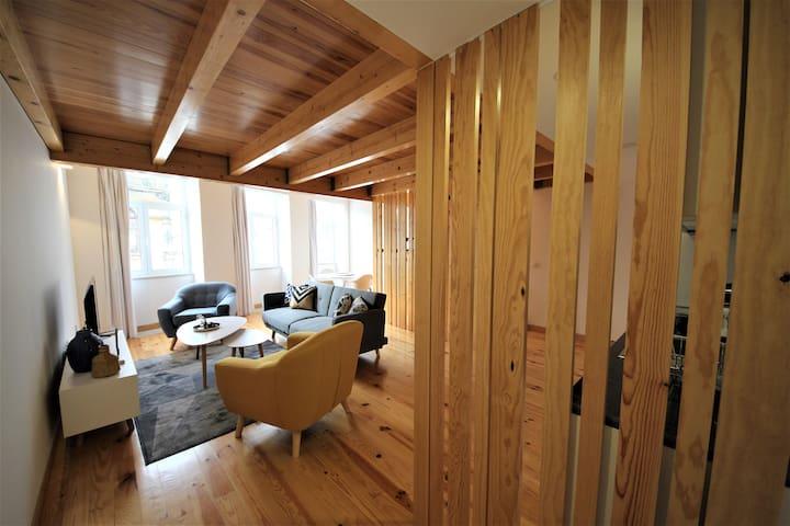 Living and dining room - Loft ground floor