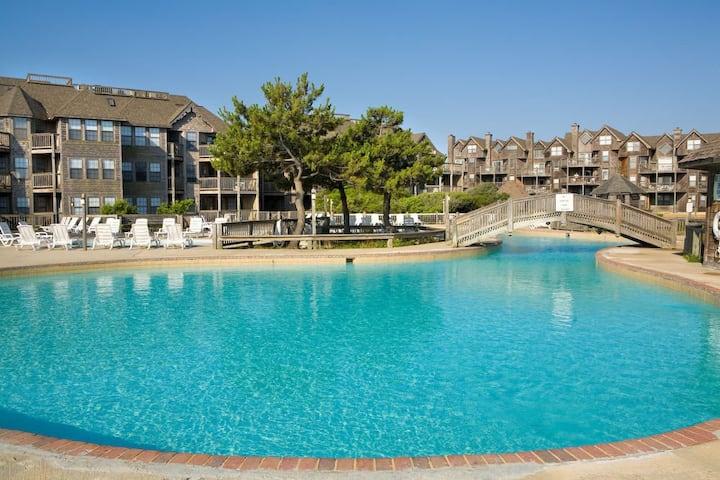 Duck (OBX) 3 BR Resort Condo - Pool, Beach, Tennis