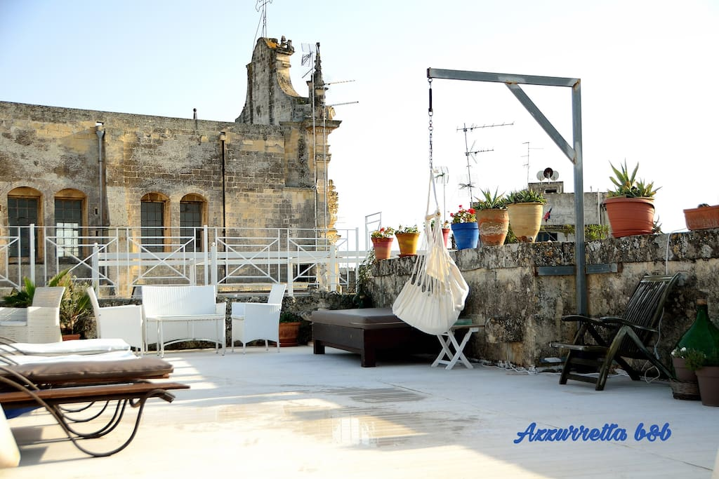 Terrace of the bed and breakfast Terrazzo/Solarium