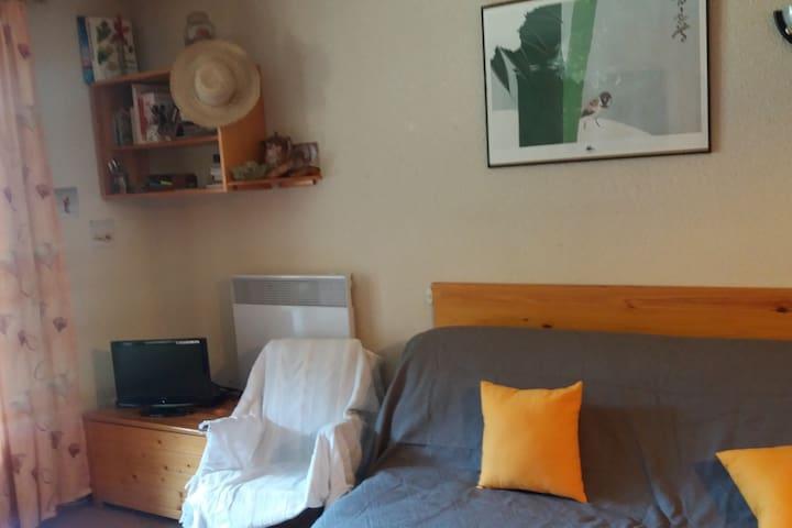 Studio cabine 4/6 personnes à l'entrée du village - Corrençon-en-Vercors - Apartamento