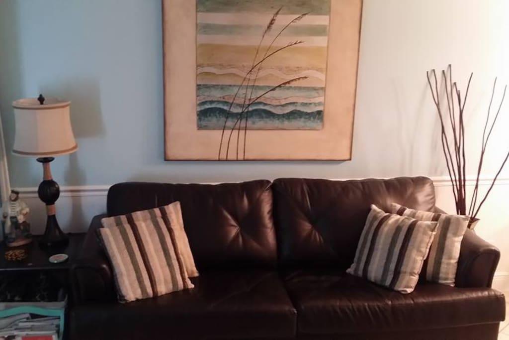Queen sleeper sofa in Living Room