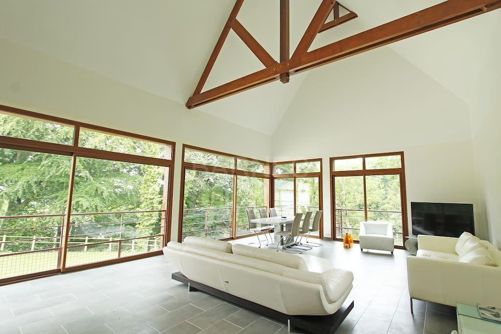 Villa proche deauville trouville avec piscine maisons for Piscine trouville