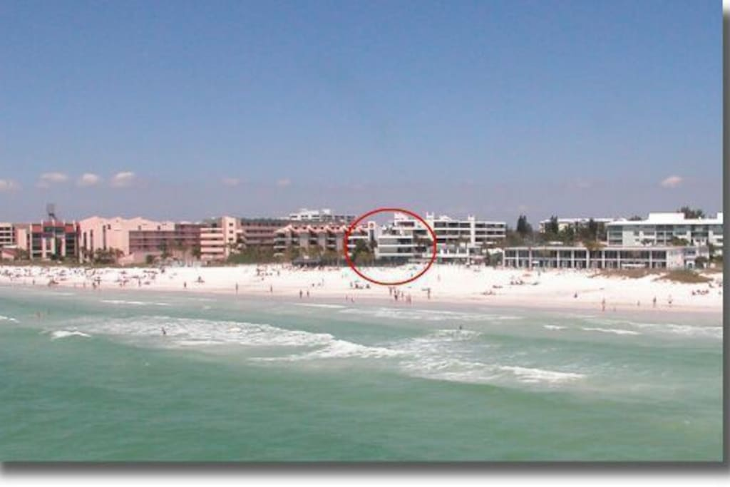 House of the Sun is located right on the beach in Siesta Key