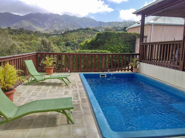 Charmante maison avec piscine située à la Rivière