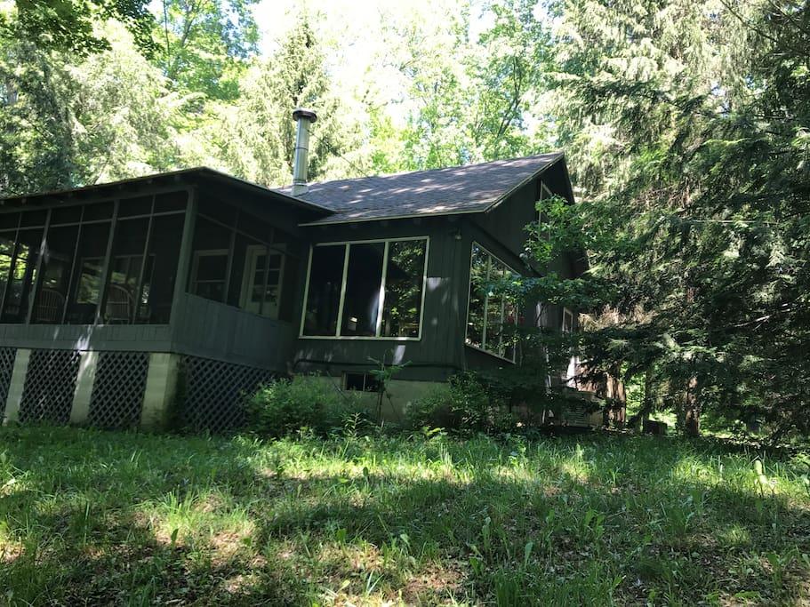 cozy cabin in la porte near new buffalo mi 7 mi cabins