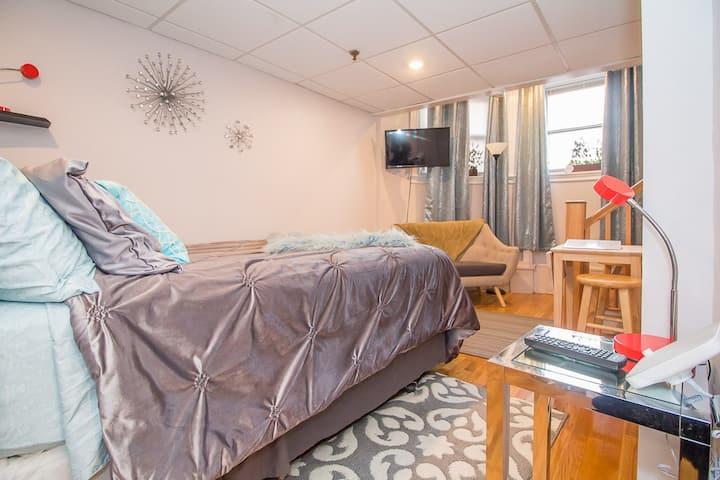 Boston,Fenway,Longwood Medical,renovated studio,T