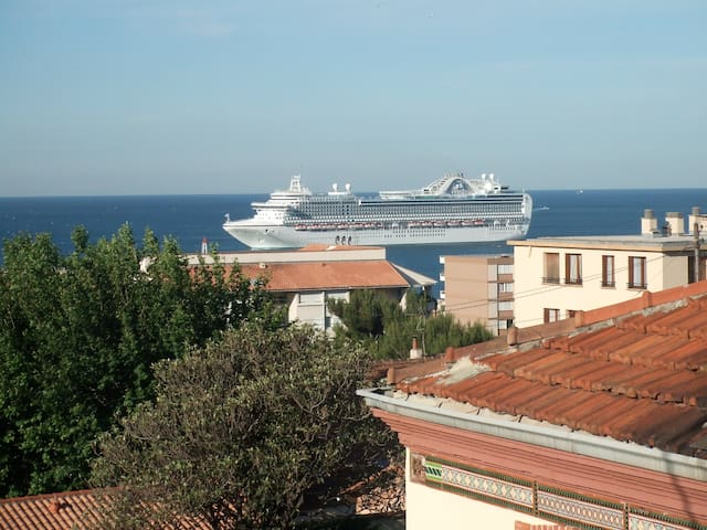 Appartement sous les toits et balcon face à la Mer
